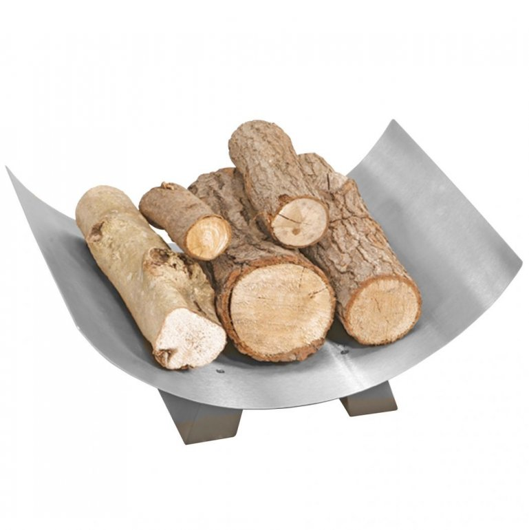 Crescent Log Tray - Pewter - 17 x 42 x 33