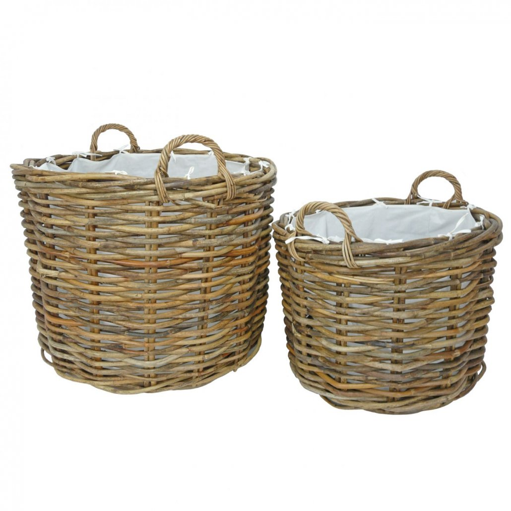 Rattan Basket Ritz -  Set of 2