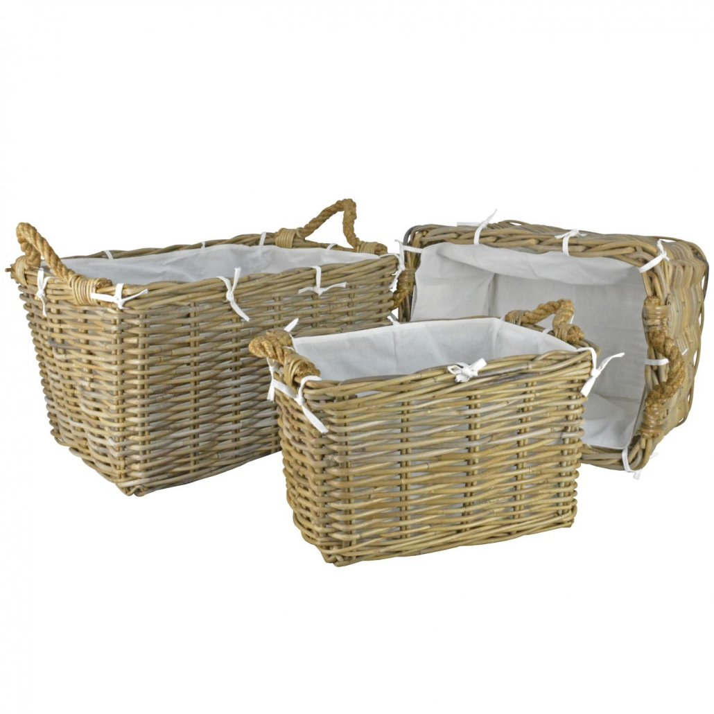 Rattan Basket Hilton -  Set of 3