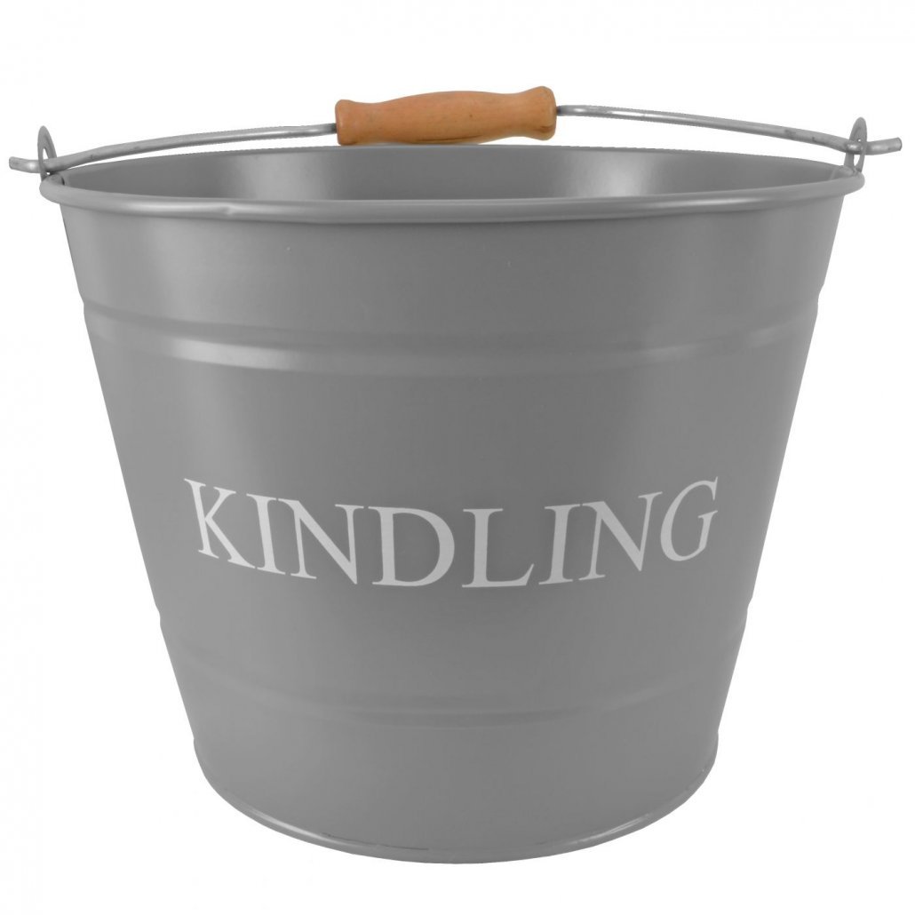 Small Kindling Bucket - Grey - 23