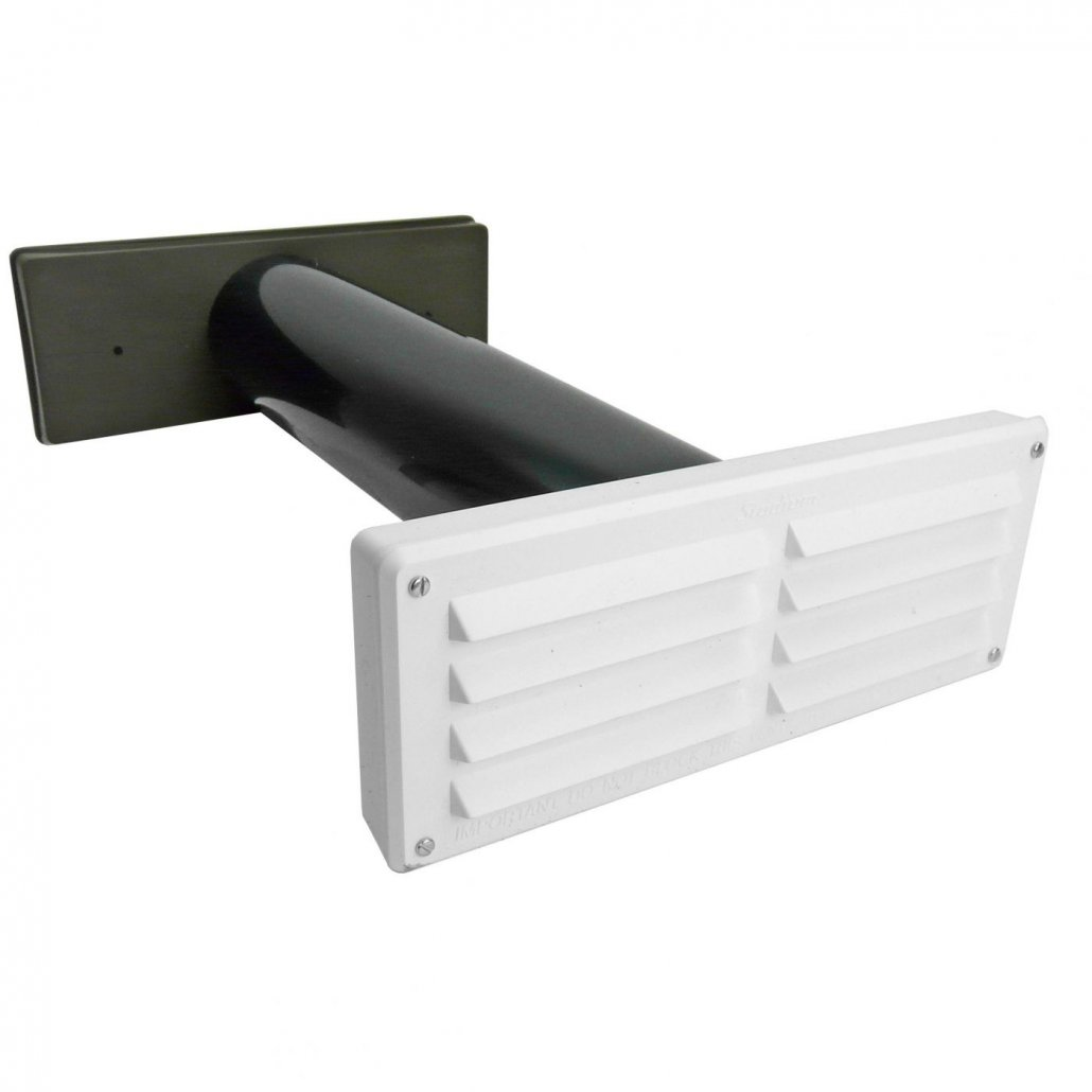 Wall Vent - Core Drill Brown Grille - 40cm sq