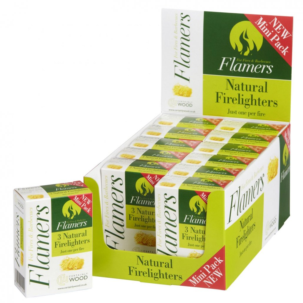 Certainly Wood Flamers 3 Mini (12 Pack CDU)