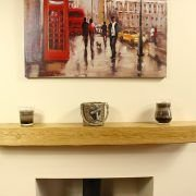6 X 4 CONTEMPORARY SOLID OAK MANTEL