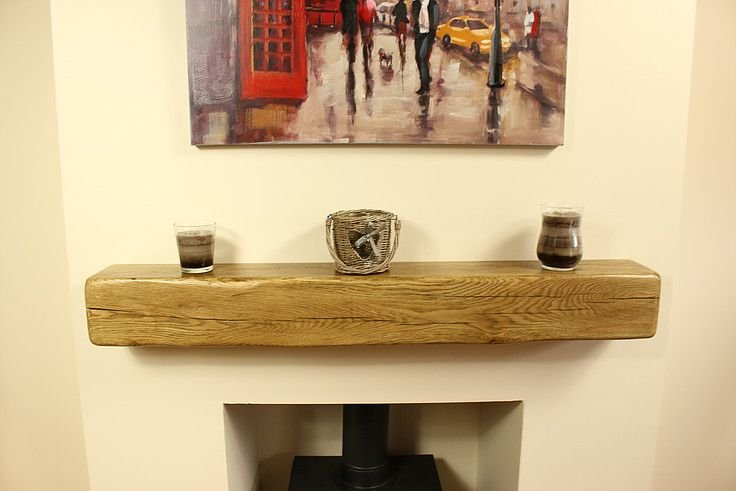 6 X 6 CONTEMPORARY STYLE SOLID OAK MANTEL