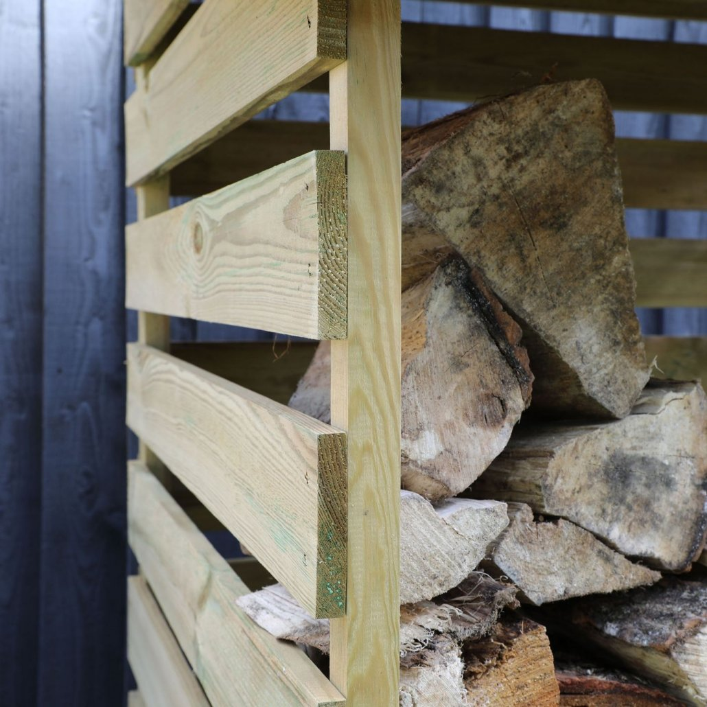 3ft x 3ft Waltons Pressure Treated Single Log Store