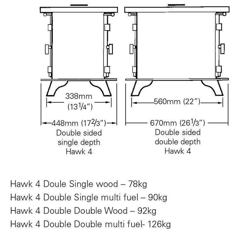 Hawk 4 Double Sided Single Depth