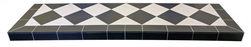 Diamond Quarry Black And White Tiled Hearth