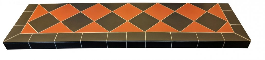 Diamond Quarry Black And Red Tiled Hearth