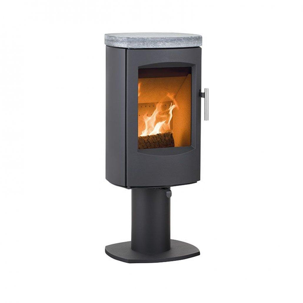 Heta Scan-Line 7D on a Pedestal with Soapstone Top